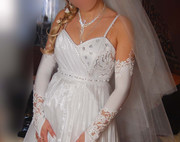 Срочно продаю свадебное платье! 600 грн: платье,  накидка,  фата,  перчат