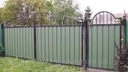 Недорогие ворота закрытые профнастилом от 2700 грн. Кузня