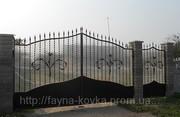 Кованные ворота 4000 грн. (металл+поликарбонат)