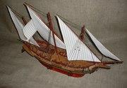Ручна робота. Іспанська шебека,  розмір 80*50 см,  Florensia 1815 рік