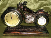Ретро часы Мотоцикл