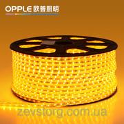 Светодиодный дюралайт  SMD3528 квадратный желтый
