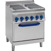 Продам бу электрическую плиту с духовкой Tecnoinox PFS70E7 для кафе