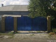 Кованые распашные ворота из металла с поликарбонатом,  Луцьк