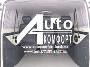 Шторы автомобильные в Mercedes-Benz Vito,  Volkswagen T5 серые с салазк