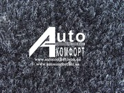 Ковролин автомобильный мягкий,  тягучий,  без основы (черный с белым)