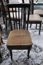 Продам деревянные стулья с тканевой подушкой бу для кафе
