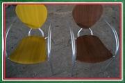 Стул дизайнерский б/у Simphony от МВ Италия алюминиевый с деревянным с
