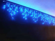 Гирлянда бахрома уличная 100 led 5м синяя