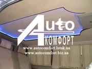 Шторы автомобильные в Mercedes-Benz Vito бежевые с салазками